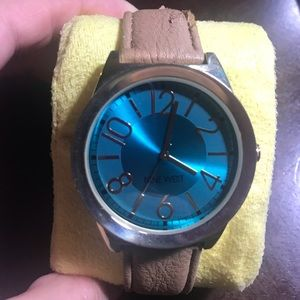 Nine West Watch - Blue and Gold